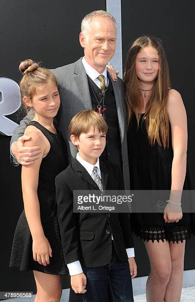 Director Alan Taylor and children arrive for the Premiere Of Paramount Pictures' Terminator Genisys held at Dolby Theatre on June 28 2015 in...