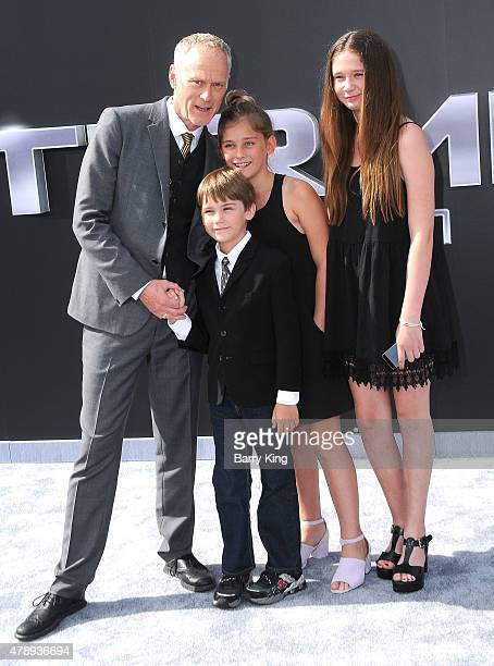 Director Alan Taylor and family arrive at the Los Angeles premiere of 'Terminator Genisys' at the Dolby Theatre on June 28 2015 in Hollywood...