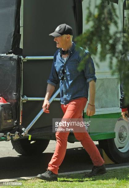 Director Alan Taylor on the set of The Many Saints of Newark on May 6 2019 in New York City