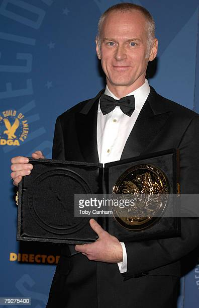 Director Alan Taylor winner of Outstanding Directorial Achievement in Dramatic Series Night for Mad Men Smoke Gets in Your Eyes poses in the press...