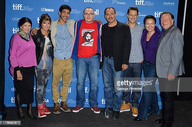 Director Alanis Obomsawin of 'Hi-Ho Mistahey!', Director Sarah Spillane and Actor Hunter Page-Lochard of 'Around The Block', Director Jeff Barnaby...
