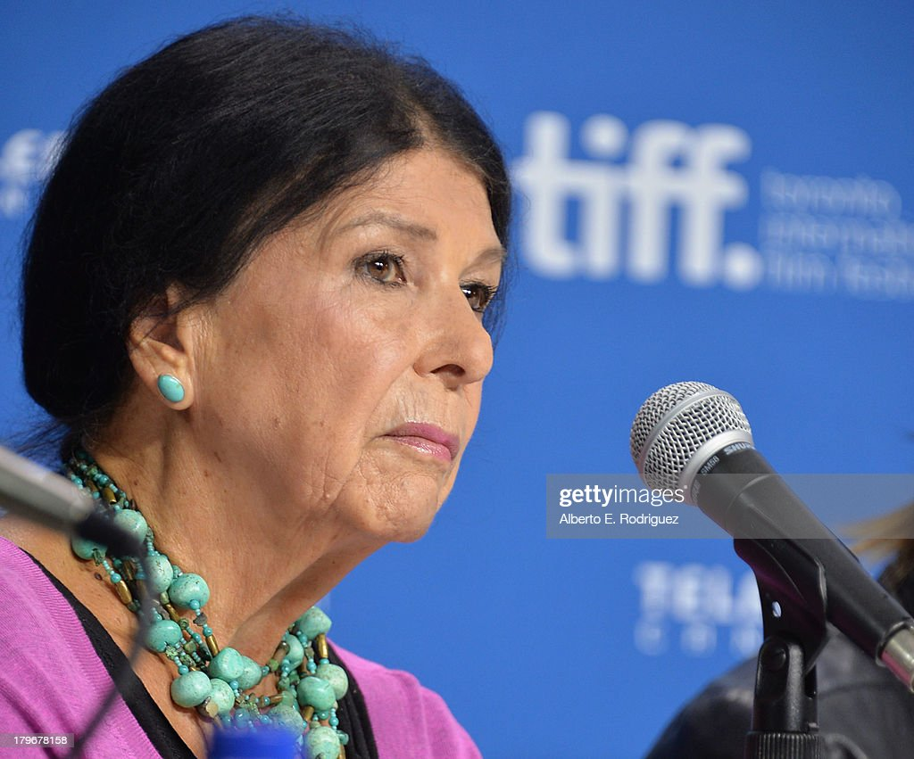Director Alanis Obomsawin speaks onstage at First Peoples Cinema Press Conference during the 2013 Toronto International Film Festival at TIFF Bell Lightbox on September 6, 2013 in Toronto, Canada.