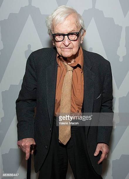 Director Albert Maysles arrives at The Academy Of Motion Pictures Arts And Sciences' Special Screening Of Newly Restored Grey Gardens at Bing Theatre...