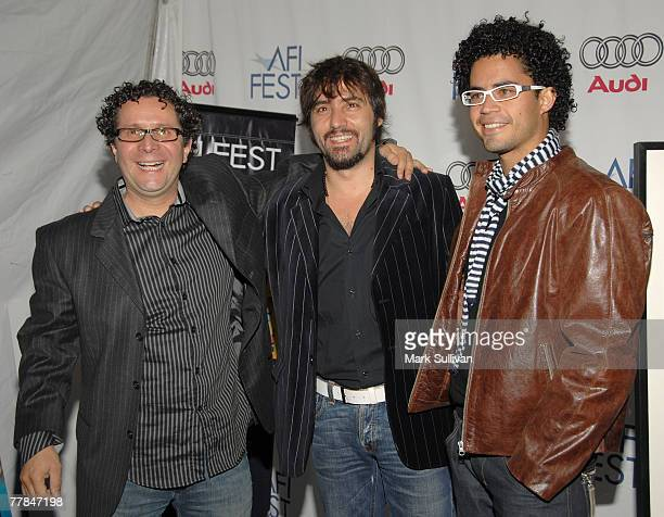 Director Alberto Arvelo actors Ximo Solano and Pastor Oviedo arrive to the Tribute to Laura Linney and screening of 'The Savages' during the AFI FEST...