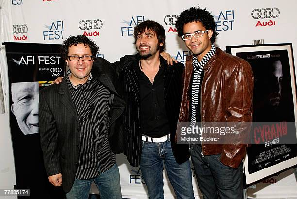 Director Alberto Arvelo and actors Ximo Solano and Pastor Oviedo of the film 'Cyrano Fernandez' attend the AFI FEST 2007 presented by Audi held at...