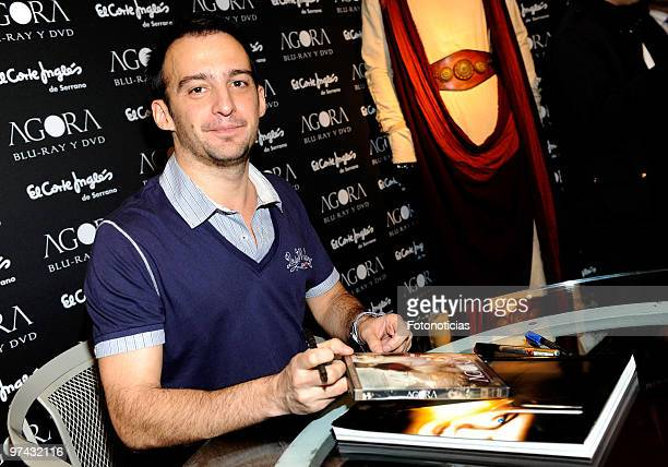 Director Alejandro Amenabar presents 'Agora' in DVD and BluRay at El Corte Ingles on March 4 2010 in Madrid Spain