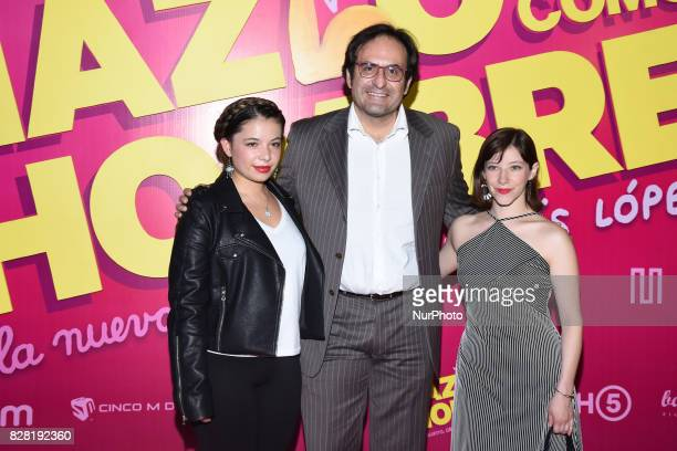Director Alejandro Calva is seen during the pink carpet to promote the latest film 'Hazlo Como Hombre' at Cinepolis Plaza Oasis Coyoacan on August 08...