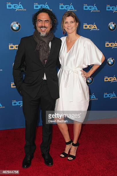 Director Alejandro G Inarritu and Maria Eladia Hagerman attend the 67th Annual Directors Guild Of America Awards at the Hyatt Regency Century Plaza...