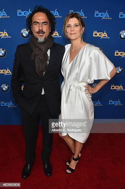 Director Alejandro G Inarritu and Maria Eladia Hagerman attend the 67th Annual Directors Guild Of America Awards at the Hyatt Regency Century Plaza...