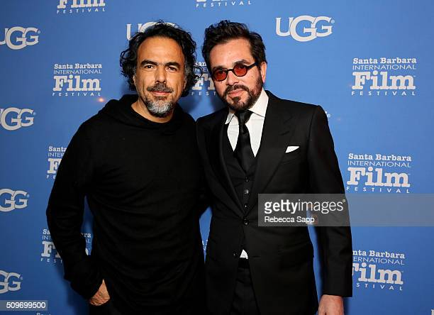 BARBARA CA FEBRUARY Director Alejandro G Inarritu and SBIFF Director Roger Durling attend the Outstanding Directors Awards at the Arlington Theater...