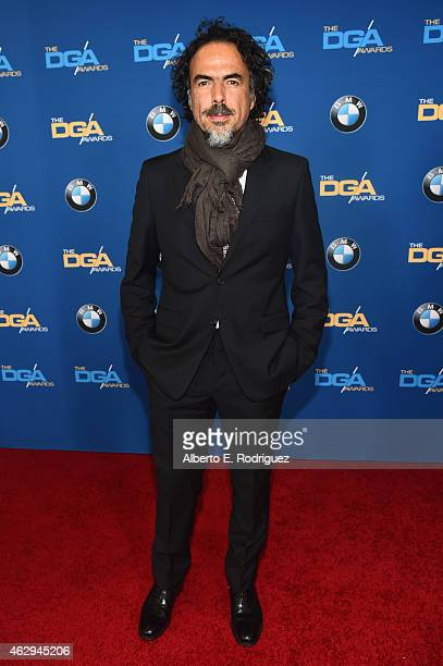 Director Alejandro G Inarritu attends the 67th Annual Directors Guild Of America Awards at the Hyatt Regency Century Plaza on February 7 2015 in...