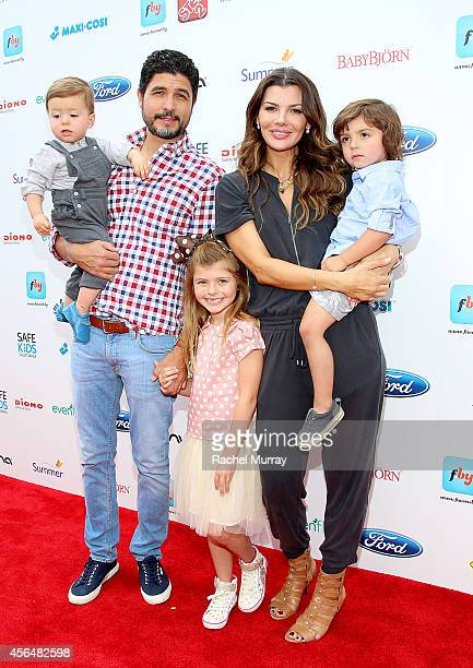 Director Alejandro Gomez Monteverde model Ali Landry and children Valentin Francesco Monteverde Estela Ines Monteverde and Marcelo Alejandro...