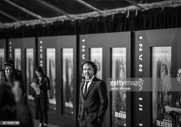 """Director Alejandro Gonzalez Iarritu attends the premiere of 20th Century Fox's """"The Revenant"""" at TCL Chinese Theatre on December 16, 2015 in..."""