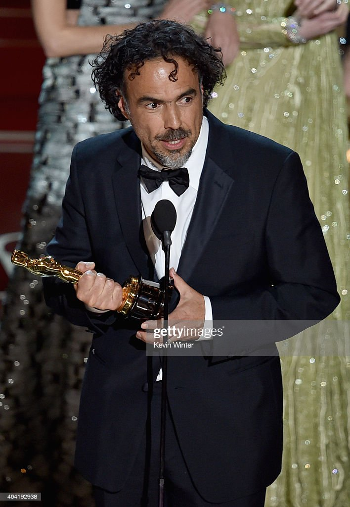 Director Alejandro Gonzalez Inarritu accepts the Best Picture award for 'Birdman' onstage during the 87th Annual Academy Awards at Dolby Theatre on February 22, 2015 in Hollywood, California.
