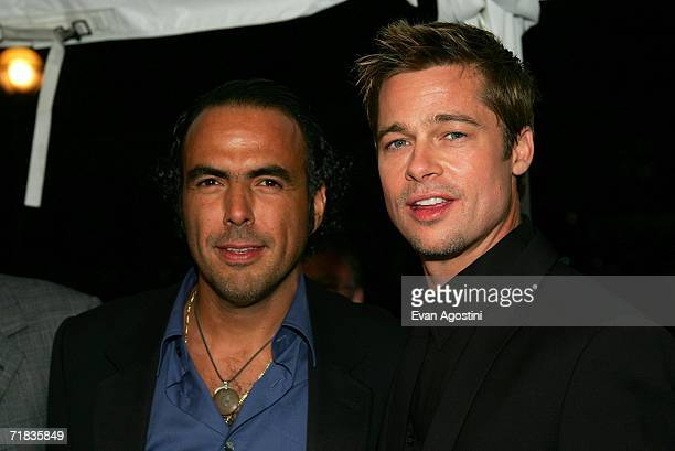 Director Alejandro Gonzalez Inarritu and actor Brad Pitt arrive at the Toronto International Film Festival gala presenation of the film Babel held at...