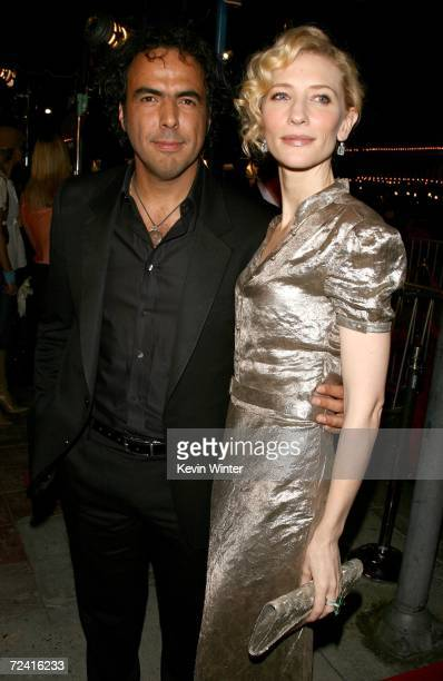 Director Alejandro Gonzalez Inarritu and actress Cate Blanchett arrive at the Paramount Vantage premiere of 'Babel' held at the FOX Westwood Village...