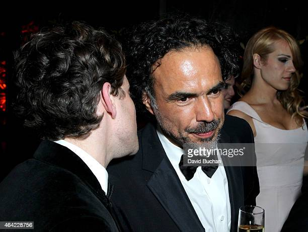 Director Alejandro Gonzalez Inarritu and family attend the 21st Century Fox and Fox Searchlight Oscar Party at BOA Steakhouse on February 22 2015 in...