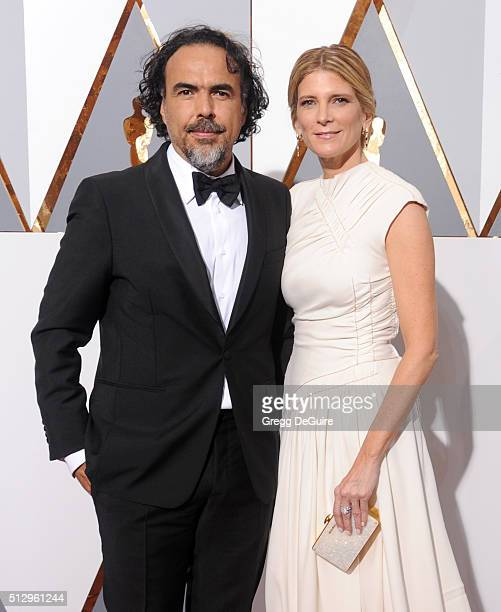 Director Alejandro Gonzalez Inarritu and Maria Eladia Hagerman arrive at the 88th Annual Academy Awards at Hollywood Highland Center on February 28...
