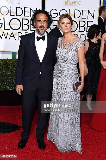 Director Alejandro Gonzalez Inarritu and Maria Eladia Hagerman attend the 72nd Annual Golden Globe Awards at The Beverly Hilton Hotel on January 11...