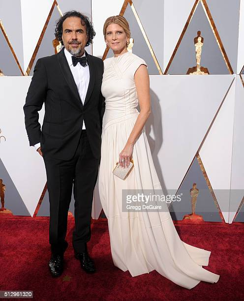 Director Alejandro Gonzalez Inarritu and wife Maria Eladia Hagerman arrive at the 88th Annual Academy Awards at Hollywood Highland Center on February...