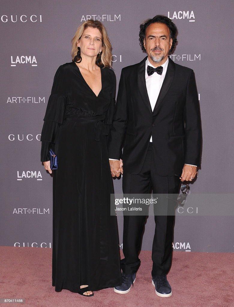 Director Alejandro Gonzalez Inarritu and wife Maria Eladia Hagerman attend the 2017 LACMA Art + Film gala at LACMA on November 4, 2017 in Los Angeles, California.