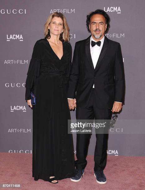 Director Alejandro Gonzalez Inarritu and wife Maria Eladia Hagerman attend the 2017 LACMA Art Film gala at LACMA on November 4 2017 in Los Angeles...