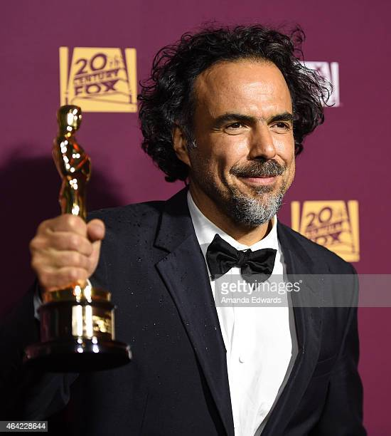 Director Alejandro Gonzalez Inarritu arrives at the 21st Century Fox and Fox Searchlight Oscar Party at BOA Steakhouse on February 22 2015 in West...