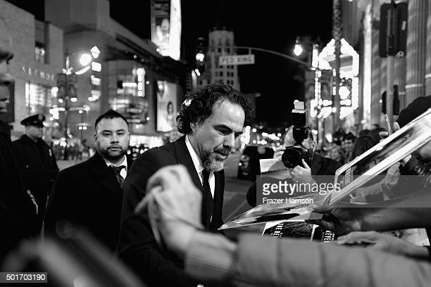 """Director Alejandro Gonzalez Inarritu arrives at the Premiere Of 20th Century Fox And Regency Enterprises' """"The Revenant"""" at TCL Chinese Theatre on..."""