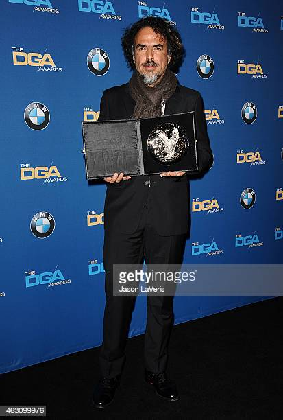 Director Alejandro Gonzalez Inarritu poses in the press room at the 67th annual Directors Guild of America Awards at the Hyatt Regency Century Plaza...