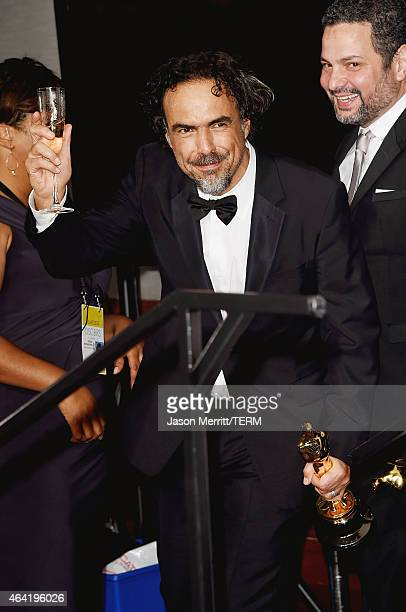 Director Alejandro Gonzalez Inarritu, winner of Best Original Screenplay, Best Director, and Best Motion Picture, for 'Birdman' poses in the press...