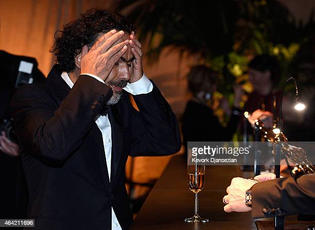 Director Alejandro Gonzalez Inarritu winner of Best Original Screenplay Best Director and Best Motion Picture for 'Birdman' attends the 87th Annual...