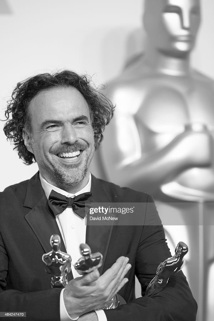 Director Alejandro Gonzalez Inarritu, winner of Best Original Screenplay, Best Director, and Best Motion Picture, for 'Birdman' appears in the press photo room at the 87th Annual Academy Awards at Dolby Theatre, February 22, 2015 in Hollywood, California.
