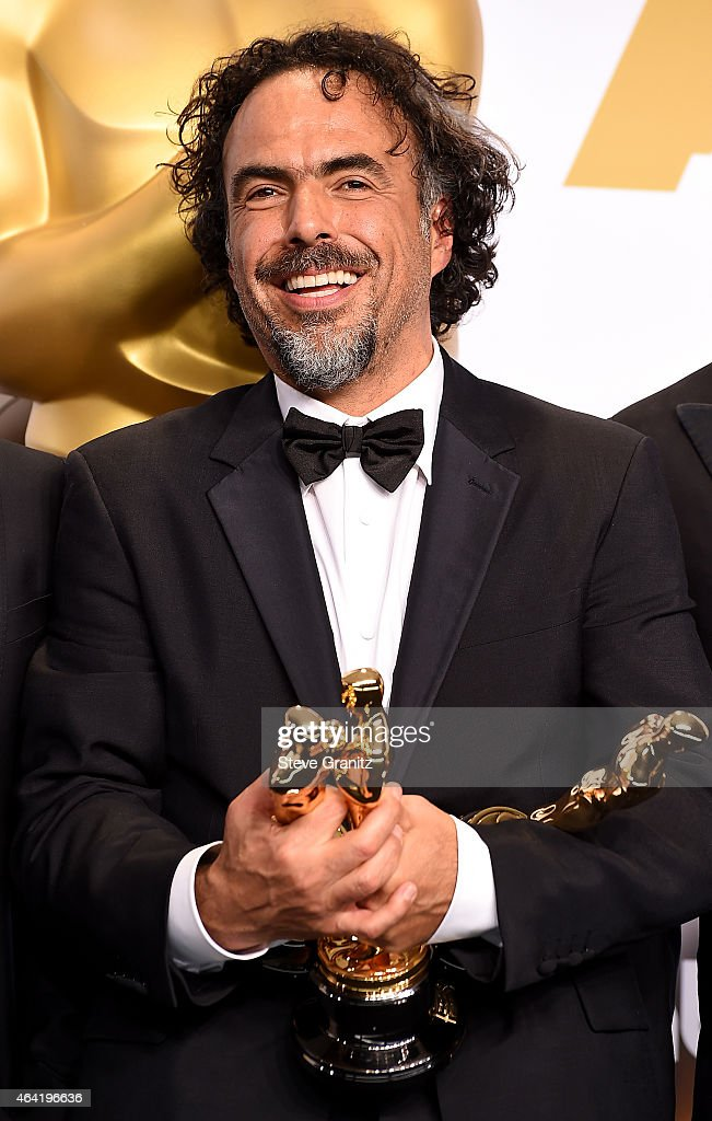 Director Alejandro Gonzalez Inarritu winner of the Best Picture award for 'Birdman' poses in the press room during the 87th Annual Academy Awards at Loews Hollywood Hotel on February 22, 2015 in Hollywood, California.