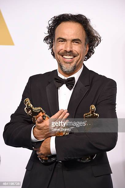 Director Alejandro Gonzalez Inarritu winner of the Best Picture award for 'Birdman' poses in the press room during the 87th Annual Academy Awards at...
