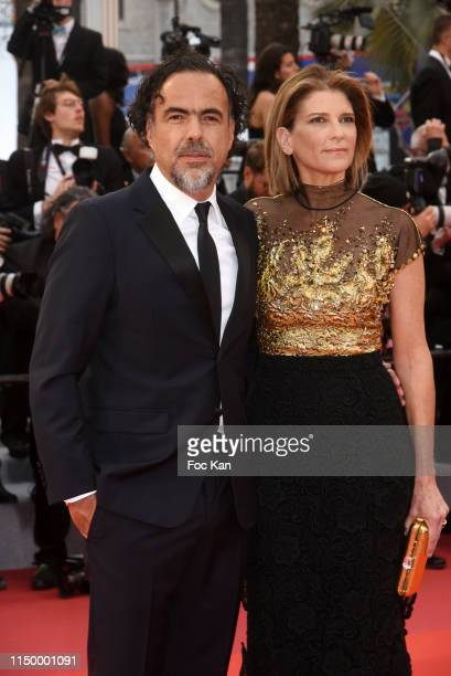 Director Alejandro González Iñárritu and Maria Hagerman attend the screening of Pain And Glory during the 72nd annual Cannes Film Festival on May 17...
