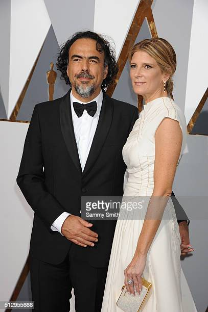 Director Alejandro Inarritu and Maria Eladia Hagerman attend the 88th Annual Academy Awards at Hollywood Highland Center on February 28 2016 in...