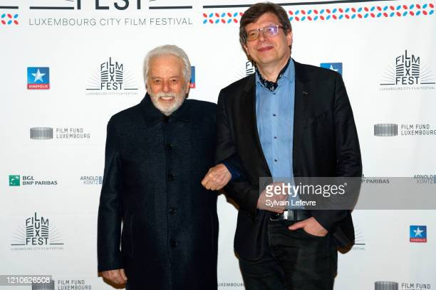 Director Alejandro Jodorowsky and film critic Philippe Rouyer attend the photocall for the opening ceremony of 10th Luxembourg City Film Festival on...