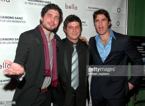 Director Alejandro Monteverde singer Alejandro Sanz and actor/producer Eduardo Verastegui arrive to People En Espanol's honoring of Alejandro Sanz...