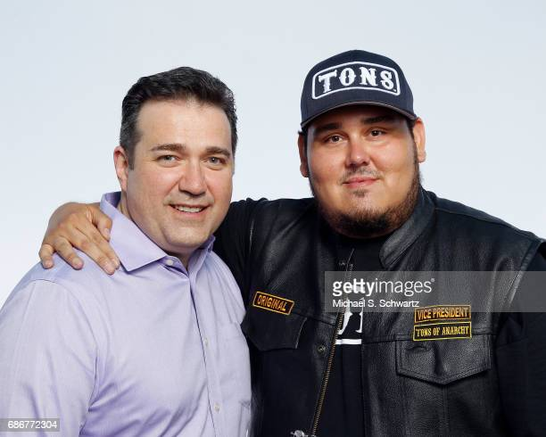 Director Alejandro Trevino and Momo Rodriguez pose during their appearance at The Ice House Comedy Club on May 21 2017 in Pasadena California
