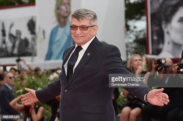 Director Aleksandr Sokurov attends a premiere for 'Francofonia' during the 72nd Venice Film Festival at Palazzo del Casino on September 4 2015 in...