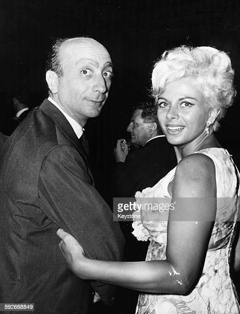 Director Alessandro Perrone and actress Sandra Milo pictured together at a party circa 1965