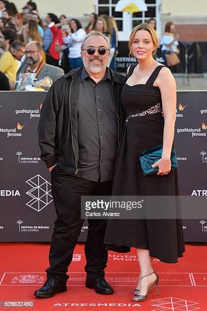Director Alex de la Iglesia and actress Carolina Bang attend Nuestros Amantes premiere at the Cervantes Teather during the 19th Malaga Film Festival...