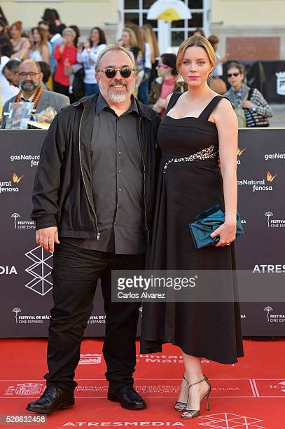 Director Alex de la Iglesia and actress Carolina Bang attend Nuestros Amantes premiere at the Cervantes Teather during the 19th Malaga Film Festival...