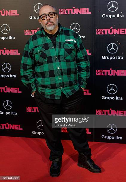 Director Alex de la Iglesia attends 'Los del Tunel' premiere at Capitol cinema on January 18 2017 in Madrid Spain