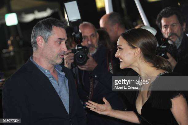 Director Alex Garland and actress Natalie Portman arrive for the premiere of Paramount Pictures' 'Annihilation' held at Regency Village Theatre on...