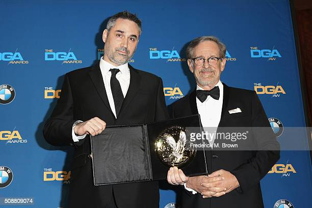 Director Alex Garland winner of the award for Outstanding Directorial Achievement of a FirstTime Feature Film Director for Ex Machina and director...