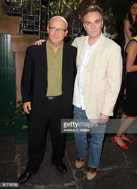 Director Alex Gibney and the president of Magnolia Pictures Eamonn Bowles attend the reception for Gonzo The Life and Work of Dr Hunter S Thompson on...