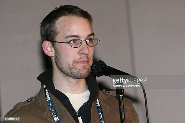 Director Alex Haworth attends a screening of Quid Pro Quo at the Library Theatre during the 2008 Sundance Film Festival on January 20 2008 in Park...