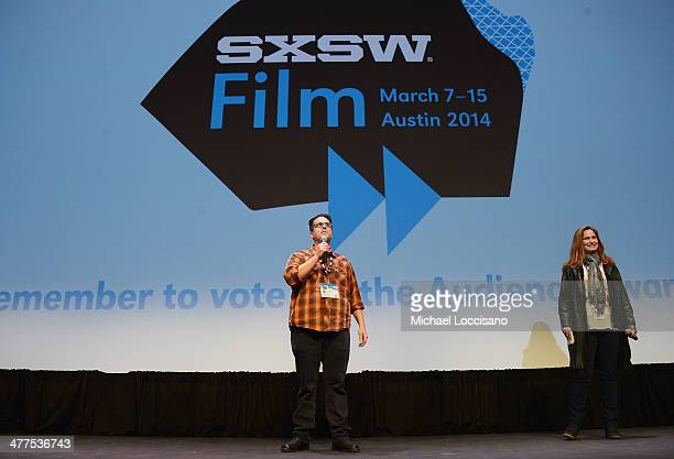 Director Alex Johnson takes part in a QA following the Two Step premiere during the 2014 SXSW Music Film Interactive Festival at the Topfer Theatre...