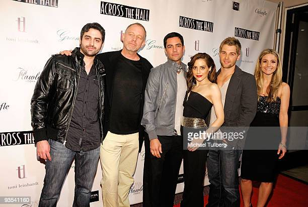 Director Alex Merkin and actors Brad Greenquist Danny Pino Brittany Murphy Mike Vogel and Natalie Smyka attend the premiere of Across The Hall on...